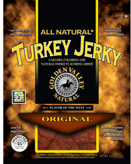 Original Turkey Jerky <strong>From the Manufacturer:</strong><br />Take a beef break. Turkey jerky made from tender, juicy turkey meat seasoned with the natural flavors of soy, apple cider and salt—the best combination for a stellar turkey jerky.  3.25 oz Bag  $15.99