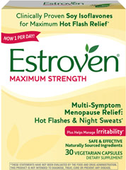 Estroven® Maximum Strength <p><strong>From the Manufacturer's Label: </strong></p><p>Estrogen Maximum Strength is distributed by Amerifit, Inc.</p> 60 Caplets  $15.99