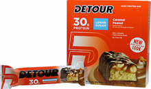 Low Sugar Bars Caramel Peanut 30 gram <p><b>From the Manufacturer's Label: </p></b>  <p>30 g Protein</p> <p>No Trans Fat</p> <p>55% less sugar than regular Detour® bars</p>  <p>Detour® Lower Sugar Bars deliver the same phenomenal taste as the Original – but with 55% less sugar! <p>Manufactured by Detour® Bars.</p> 	 12 Bars 30 gram $29.99