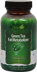 Green Tea Metabolizer <p><strong>From the Manufacturer's label:</strong></p><p>Green Tea Fat Metabolizer contains a highly concentrated form of green tea extract with a powerful blend of natural herbal boosters and nutrients**</p><p>Manufactured by Irwin Naturals</p> 75 Capsules  $16.13