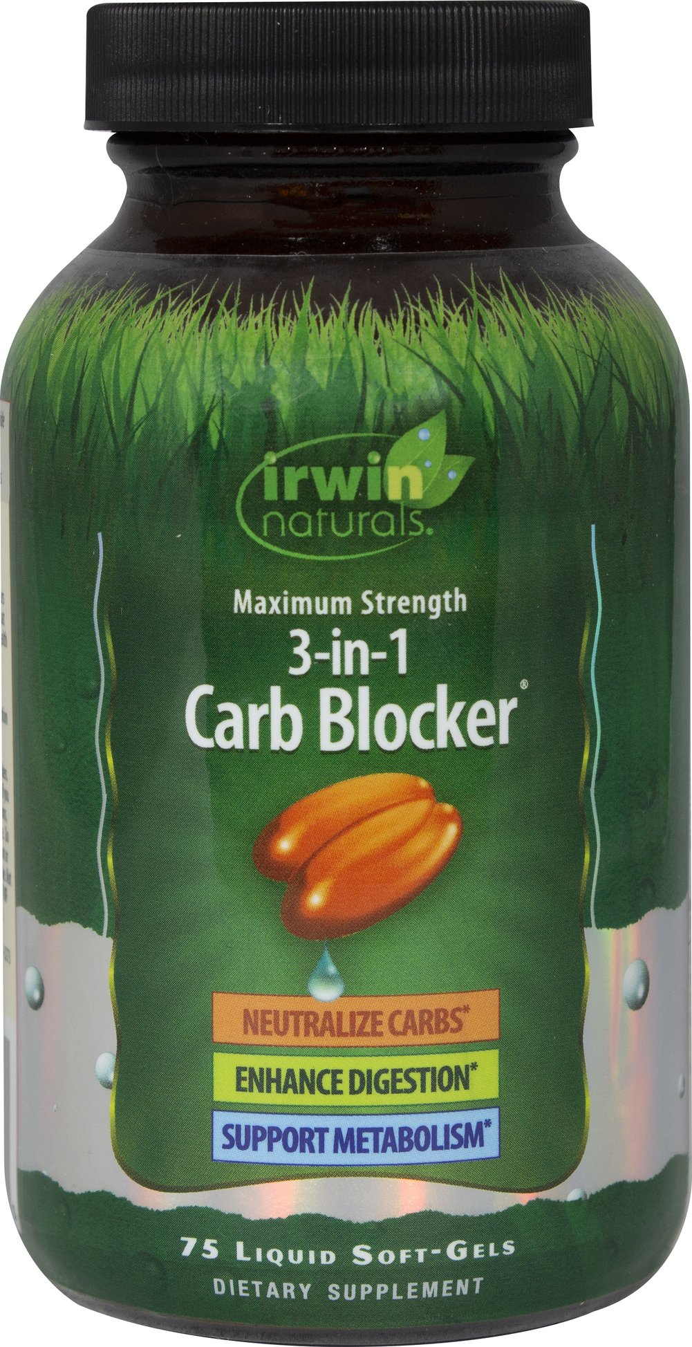 Maximum Strength 3 in 1 Carb Blocker <p><strong>From the Manufacturer's Label:</strong></p><p><br />• Neutralize Carbs**<br />• Enhance Digestion**<br />• Support Metabolism**<br /><br />This product has been specifically designed for those who eat pasta, bread and other carbohydrate-rich foods. The triple-approach formula works to: <br /><br />• <strong>Neutralize Starch Enzymes:</strong> White Kidney bean i