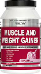 Muscle & Weight Gainer Strawberry <p>Advanced Gainer Formula to Support Lean Muscle Mass and Size**<br /><br /></p><ul><li>BCAAs & Essential Aminos from Protein</li><li>Aspartame-Free</li><li>Easy to Digest</li><li>Easy to Mix</li><li>Great Tasting</li><li>Strawberry Flavor<br /><br />Myology™ Muscle & Weight Gainer was designed for anyone who is serious about gaining q