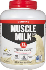 Muscle Milk® Vanilla Crème <p><b>From the Manufacturer's Label:</b></p> <p>Muscle Milk® is manufactured by Cytosport.</p><p>Available in Vanilla Crème, Cookies N Crème and Chocolate Flavors.</p> 4.94 lbs Powder  $44.99
