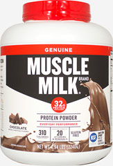 Muscle Milk® Chocolate <p><strong>From the Manufacturer's Label:</strong></p><p>Precision Protein Blend:</p><p>Muscle  Milk® contains a unique blend of proteins designed to provide essential  nutrients to aid exercise recovery and muscle growth.*</p><p>The lean lipids used in Muscle Milk® are a blend of canola oil, sunflower oil, and median chain triglycerides (MCTs)</p><p>Muscle Milk's® carbohydrate mi