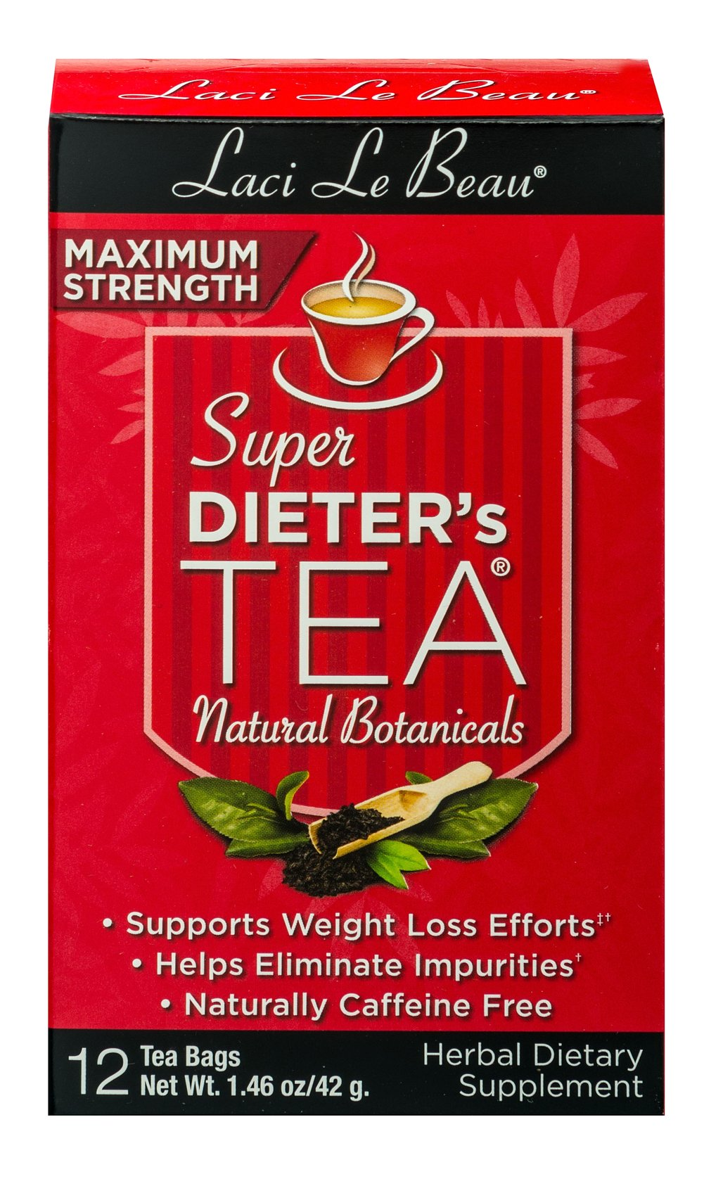 Super Dieter's Tea® Maximum Strength <p><b>From the Manufacturer's Label: </p></b><p>Naturally Caffeine Free. Super Dieter's Teas were created from painstaking research, offering a delicious alternative that has been helping people across the  nation. ** Maximum Strength Teas can assist those of you who need an extra boost from regular Super Dieter's Formula.** </p> 12 Tea Bags  $3.99