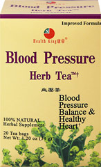 Blood Pressure Herb Tea <p><strong>From the Manufacturer's Label: </strong></p><p>With an excellent natural flavor, this herb tea is made of wild apocynum venetum grown in a pollution-free area in northeast China with a few other precious herbs. <br /></p> 20 Tea Bags  $12.99