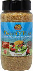 Dash O' Flax Pre-Ground Golden Flax Seed <p><strong>From the Manufacturer's Label: </strong></p><p>Pre-Ground Golden Flax Seed</p><p>Heart Healthy</p><p>High Fiber</p><p>0 grams Trans Fat</p><p>Double-dash your cereal, salads, fruit, pizza, smoothies & more!</p><p>Packaged in a Gluten, Nut, & Lactose-Free facility</p> 10 oz Other