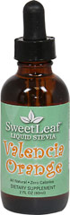 Stevia Liquid Extract Valencia Orange <p><strong>From the Manufacturer's Label:</strong></p><p>With just a few drops, SweetLeaf Liquid Stevia can turn a boring bottle of water or virtually any other food or beverage into a flavorful experience. Can be used in tea, coffee, smoothies, protein shakes, or any recipe. From drinks to desserts, appetizers to entrees and so much more, the options are endless!<strong><br /></strong></p> 2 fl oz Li
