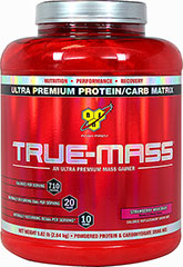 True-Mass™ Strawberry <p><strong>From the Manufacturer's Label: </strong></p><p>These products are aspartame free and contain no trans fats.</p><p>We are proud to bring you True-Mass™ from BSN. Look to Puritan's Pride for high-quality national brands and great nutrition at the best possible prices. True-Mass™ is aspartame free and contains no trans fat.</p> 5.75 lb Powder  $45.99