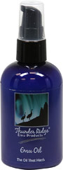 Emu Oil 100% Pure <p><b>From the Manufacturer's Label: </p></b><p>A deep penetrating oil that has been used effectively for years in healing and moisturizing skin.</p><p>EMU oil brings temporary relief to aching joints and muscles.</p><p>Shake well and apply generously on affected areas as needed. </p><p>Manufactured by  Thunder Ridge.</p> 4 fl oz Oil  $14.99