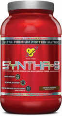Syntha-6 Chocolate <p><strong>From the Manufacturer's Label: </strong></p><p>Designed for individuals who want an ultra-premium protein powder that will help them reach their nutritional and physical goals. These products are free of aspartame and are available in the following flavors: Chocolate, Vanilla, Strawberry Chocolate Peanut Butter, Cookies & Cream and Mochaccino.</p><p>Manufactured by BSN®.</p> 2.91 lbs Powder  $32.99