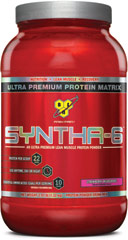 Syntha-6 Strawberry <p><strong>From the Manufacturer's Label: </strong></p><p>Designed for individuals who want an ultra-premium protein powder that will help them reach their nutritional and physical goals. These products are free of aspartame and are available in the following flavors: Chocolate, Vanilla, Strawberry Chocolate Peanut Butter, Cookies & Cream and Mochaccino.</p><p>Manufactured by BSN®.</p> 2.91 lb Powder  $32.99