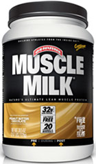 Muscle Milk® Peanut Butter Chocolate <p><strong>From the Manufacturer's Label:</strong></p><p>Precision Protein Blend:</p><p>Muscle  Milk® contains a unique blend of proteins designed to provide essential  nutrients to aid exercise recovery and muscle growth.*</p><p>The lean lipids used in Muscle Milk® are a blend of canola oil, sunflower oil, and median chain triglycerides (MCTs)</p><p>Muscle Milk's® c