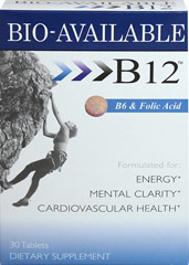 Vitamin B-12 2000 mcg Sublingual <p><strong>From the Manufacturer's Label: </strong></p><p>B6 & FOLIC ACID</p><p>INCREASED ENERGY</p><p>CARDIOVASCULAR HEALTH </p><p>30 FAST DISSOLVE TABLETS</p><p>The sublingual form of B-12 is absorbed through the blood vessels under the tongue & in the cheeks allowing it to bypass digestion and quickly enter into the blood stream.</p><p>Manufactured by