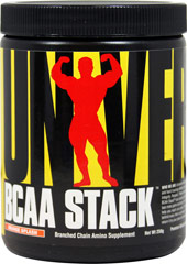 BCAA Stack Orange <p><b>From the Manufacturer's Label:</b></p> <p>BCAA Stack is manufactured by Universal.</p> <p>Available in Grape & Orange flavors.</p> 250 g Powder  $17.99