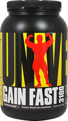 Gain Fast 3100 Chocolate <p><strong>From the Manufacturer's Label:</strong></p><p>Gain Fast 3100  is manufactured by Universal.</p><p>Available in Vanilla, Chocolate & Cookies & Cream flavors.</p> 2.55 lbs Powder  $13.99