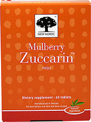 Mulberry Zuccarin <p><strong>From the Manufacturer's Label:</strong></p><p>Mulberry Zuccarin manufactured by New Nordic.</p> 60 Tablets 400 mg $22.99