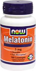 Melatonin 3 mg <p><strong>From the Manufactuer</strong></p><p>3 mg Melatonin per Lozenge</p><p>Chewable</p><p>Fast Absorption</p><p>Vegetarian</p> 180 Chewables 3 mg $6.99