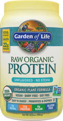 Raw Protein <p><b>From the Manufactuer's Label:</b></p> <p>Raw Protein manufactured by Garden of Life.</b> 1 lb Powder  $28.99