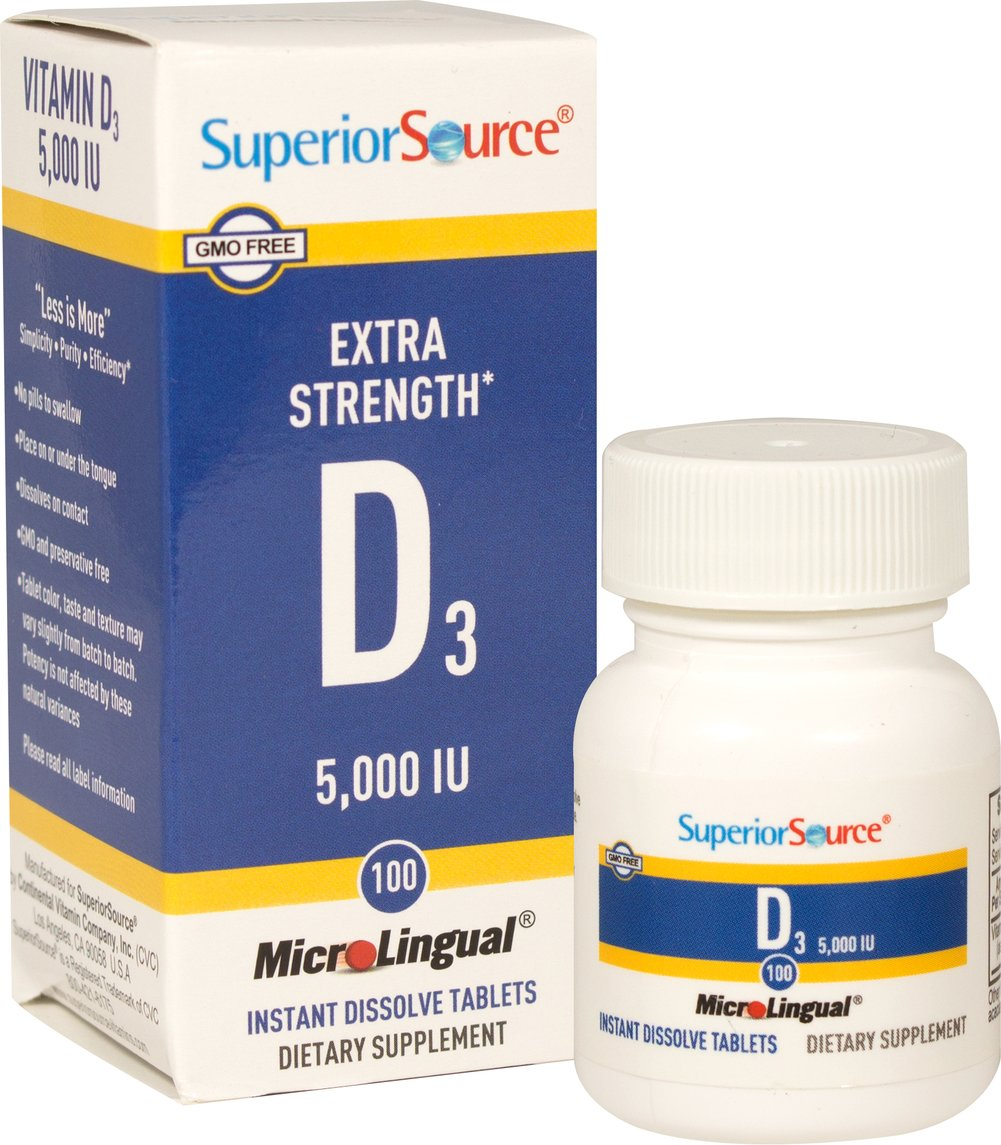 MicroLingual D3 5,000 IU: Instant Dissolve Tablets <p>Extra Strength D3  Instant Dissolve Tablets </p><p>MicroLingual tablets dissolved immediately under the tongue . </p><p>Proprietary hydrodrying process provides your body with the nutrients you need. **</p> 100 Tablets 5000 IU $12.99