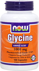 Glycine 1000 mg <p><strong>From the Manufacturer's Label:</strong></p><p>Glycine is a non-essential amino acid and has the simplest structure of all amino acids, allowing it to fit easily within protein chains and make space for structurally larger amino acids.  This feature makes it very important for specific bodily functions.**  Glycine is also a precursor of creatine, which is used to construct DNA and RNA.**  And it supports glycogen storage thereby making