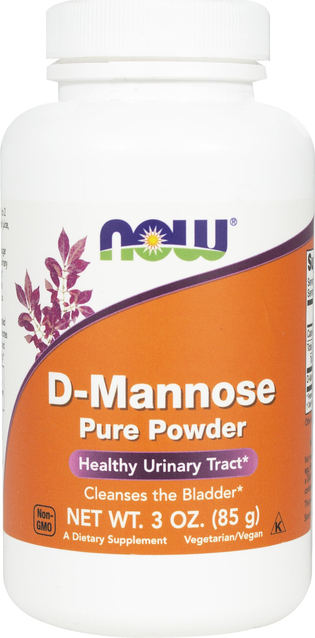 D-Mannose Powder 2000 mg <p><strong>From the Manufacturer''s Label:</strong></p><p>D-Mannose is a simple sugar that occurs naturally in some plants, including cranberries.  Although small quantities of D-Mannose are metabolized by the human body, much of it is rapidly excreted in the urine. </p><p>Manufactured by Now® Foods</p> 3 oz Powder 2000 mg