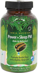 Power To Sleep PM <p><strong>From the Manufacturer's Label:</strong></p><p>Attaining restful and sustained sleep is fundamental to health and well being.  This unique combination of natural ingredients is specially-designed to help you relax before bed, sleep soundly and wake up feeling refreshed . **</p> 60 Softgels  $15.99