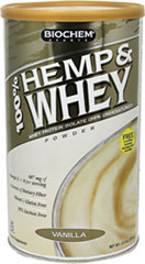 Hemp & Whey Protein Vanilla <p><strong>From the Manufacturer's Label:</strong></p><p>Contains 100% pure Ultra-Filtered/Micro-Filtered (UF/MF) Whey Protein Isolate.  The Micro-Filtration method isolates the natural whey proteins in a highly concentrated form without fat.  This process leaves 99% of the peptides undamaged and undenatured.  Hemp, Fig and Inulin provide dietary fiber for digestive support.* *Hemp is a valuable source of amino acid-rich complete prot