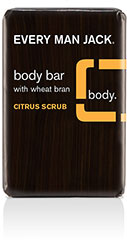 Every Man Jack® Citrus Scrub Body Bar With Wheat Bran  <p><b>From the Manufacturer's Label:</b></p> <p><b>Citrus Scrub</b></p> <p><b>With Wheat Bran</b></p>  <p>WILL THIS GIVE ME A CHISELED PHYSIQUE? Chiseled? Maybe if you work out. But smooth? Definitely. This wheat bran-based bar will cleanse, condition, and hydrate while gently scrubbing away dead skin. Plus, it features a special massaging side to soothe those