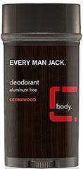 Every Man Jack® Cedarwood Deodorant Aluminum Free <p><strong>From the Manufacturer's Label:</strong></p><p><strong>Cedarwood</strong></p><p><strong>Aluminum Free</strong></p><p>WILL THIS MAKE ME A WINNER? Just by a nose. Our naturally derived deodorant provides long lasting odor protection and helps absorb sweat and moisture. All without the use of aluminum or other harsh chemicals, leaving you feeling and smellin