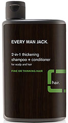 Every Man Jack® Tea Tree 2-In-1 Thickening Shampoo <p><strong>From the Manufacturer's Label:</strong></p><p><strong>For Fine Hair</strong></p><p><strong>2-in-1 Thickening Shampoo</strong></p><p>WILL THIS GIVE ME MORE SUBSTANCE? Personality wise, that's up to you. If you're talking hair, our thickening shampoo + weightless conditioner will gently cleanse and moisturize your hair. Soy proteins fortify hair from root