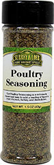 Poultry Seasoning <p>A traditional sage-based poultry seasoning that is rubbed inside and outside of poultry. It can also be used to season bread stuffing. Perfect for any chicken dinner!<br /></p> 1.5 oz Seasoning  $6.99
