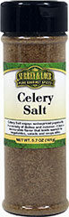 Celery Salt <p>Use this blend of sea salt and ground celery seed in place of salt in most any dish.</p> 5.7 oz Salt  $5.49
