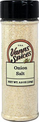 Onion Salt <p>Our new Surrey & Loeb house onion powder is celebrated for its bold, compelling flavor and aroma. Onion salt is a traditional way to add some zing without having to add ingredients to the dish. </p> 4.6 oz Salt  $4.24