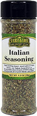 Italian Seasoning <p>Italian Seasoning is a blend of some of the finest and most beloved Italian herbs. This seasoning includes oregano, garlic, basil, onion, pepper, marjoram and rosemary. This assortment of flavors is perfect for adding flavor to all your Italian specialties. <br /></p> 1.2 oz Seasoning  $5.99