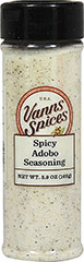Spicy Adobo Seasoning <p>Adobo Seasoning is a perfect blend of garlic, oregano and other Latino spices for all your meat, poultry and fish dishes. Adds zest and zing to your favorite meal!</p> 5.9 oz Powder  $5.99