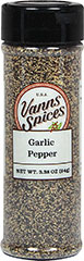 Garlic Pepper <p>Garlic Pepper is a favorite seasoning of busy cooks everywhere – it fits the bill whenever your recipe calls for both garlic and pepper. Delicious and distinct garlic combined with the sharpness of pepper – equals a mountain of flavor and as an added bonus!</p> 3.38 oz Pepper  $5.99