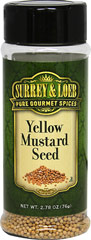 Yellow Mustard Seed <p>Mustard seed, one of the oldest of spices, adds warmth and heat to your dishes. It's spicy, peppery flavor goes well with other spices like garlic and chili powder. </p> 2.78 oz Bottle  $2.99