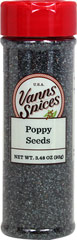 Poppy Seeds <p><strong>From the Manufacturer's Label:</strong></p><p>Excellent in color and flavor, Vann's Poppy Seeds are wonderful for using at home in desserts, baking, or as a topping.<strong></strong></p> 3.48 oz Bottle  $6.99