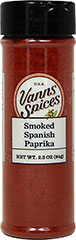Smoked Spanish Paprika <strong></strong><p><strong>From the Manufacturer:</strong></p><p>Made from peppers dried slowly for several weeks over an oak fire, this special seasoning is a must for authentic paella or wherever you want a smoky flavor.<br /></p> 2.3 oz Bottle  $8.99