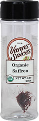 Organic Saffron <strong></strong><p><strong>From the Manufacturer:</strong></p><p>Hand-picked saffron is considered the rarest, most valuable of spices. Use sparingly in risotto, plain rice, sauces and to flavor poultry.</p> 0.25 g Bottle  $13.99