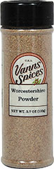 Worcestershire Powder <strong></strong><p><strong>From the Manufacturer:</strong></p><p>Use in place of liquid Worcestershire for a smokey finish. Great for your homemade bbq ribs.</p> 3.7 oz Powder  $8.99