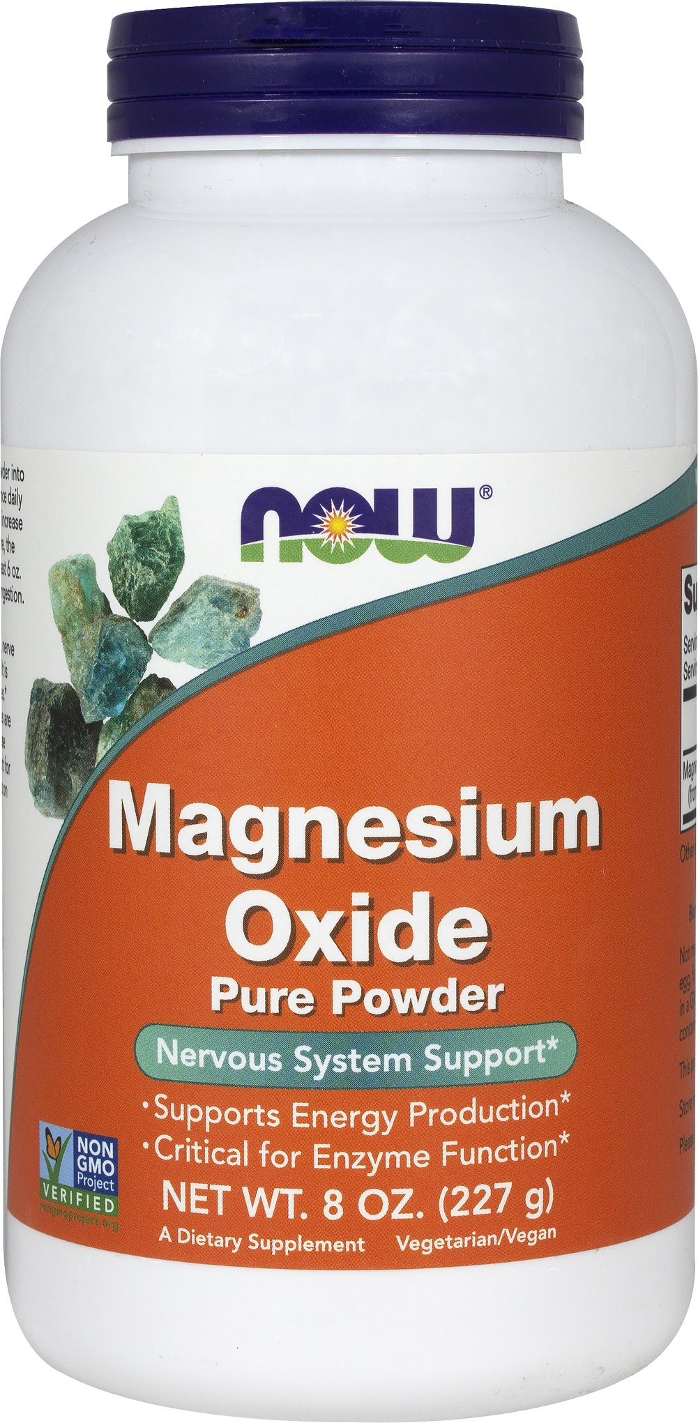 Magnesium Oxide Powder <p><strong>From the Manufacturer's Label:</strong></p><p>Supports Energy Production**</p><p>Critical for Enzyme Function**</p><p>Magnesium Oxide is derived from ancient oceanic deposits and is a rich source of elemental magnesium (58% average).  Magnesium is an essential mineral that plays a key role in the activation of amino acids for protein biosynthesis and is highly concentrated in intracellular fluid and bone.