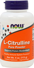 L-Citrulline 1500 mg <p><strong>From the Manufacturer's Label:</strong></p><p>Healthy Immune System function**</p><p>Citrulline is a non-essential amino acid that is an important intermediate in the urea cycle, functioning along with Arginine and Ornithine to rid the body of ammonia, a byproduct of protein metabolism.** Citrulline also plays an important role in the maintenance of a healthy immune system.**</p><p>Manufactured by Now Foods