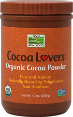 Organic Cocoa Powder <p><strong>From the Manufacturer's Label:</strong></p>Organic Cocoa Powder from NOW is the perfect complement to any health-conscious kitchen. From holiday desserts to everyday baking, to a steaming cup of hot cocoa on those cold winter days, NOW Organic Cocoa Powder offers a guilt-free way to satisfy your sweet tooth without the high amounts of sugar, fat, and preservatives common to many commercially available mixes.<br /> 12 oz Powder  $8
