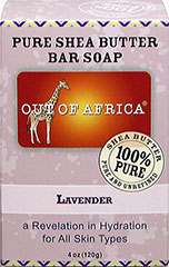 Out of Africa® Shea Butter Bar Soap Lavender <p><strong>From the Manufacturer's Label:</strong></p><p><strong>20% Unrefined Shea Butter</strong></p><p><strong>Shea Butter Hand Made in West Africa</strong></p><p>All Shea Butters are not created equal:</p><p>- Our products are made with 20% pure, unrefined Shea Butter that keeps all the moisture intact and are naturally rich in vitamins A, E and F. </
