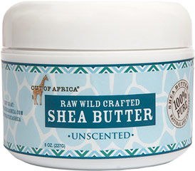 Out of Africa® Shea Butter Raw, Wild Crafted <p><strong>From the Manufacturer's Label:</strong></p><p><strong>Organic, Pure, Unrefined Shea Butter</strong></p><p>Shea butter protects, moisturizes and nourishes your skin. It helps shield skin and softens your face, lips, elbows, heels or anywhere skin needs hydration.</p><p>Loaded with antioxidants and Vitamins A, E & F, it also contains healthy fatty acids and valuabl