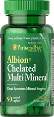 Albion® Chelated Multi Mineral <p><span></span>Broad spectrum mineral support.**</p> <p><span></span>Patented chelated minerals.</p> <p><span></span>Vegetarian dietary supplement.</p> <p>Albion® Chelated Multi Mineral is a vegetarian dietary supplement that contains several essential minerals. Many different minerals are required for the production of hormones, blood, enzymes and other functions. The patented