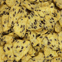 Flax Corn Chips <p>Help curb your mid afternoon snack craving with this delicious and healthy snack.  Crunchy and salty corn chips with flax seed baked right in. 8 oz Bag  $6.99