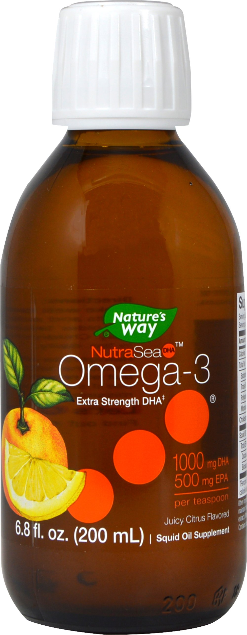 NutraSea High DHA Omega-3 Citrus <strong></strong><p><strong>From the Manufacturer's Label: </strong></p><p>• High DHA Omega-3 </p><p>• Ultra pure, great tasting Omega-3</p><p>• Citrus Flavor </p> 6.8 oz Liquid 1300 mg $22.99